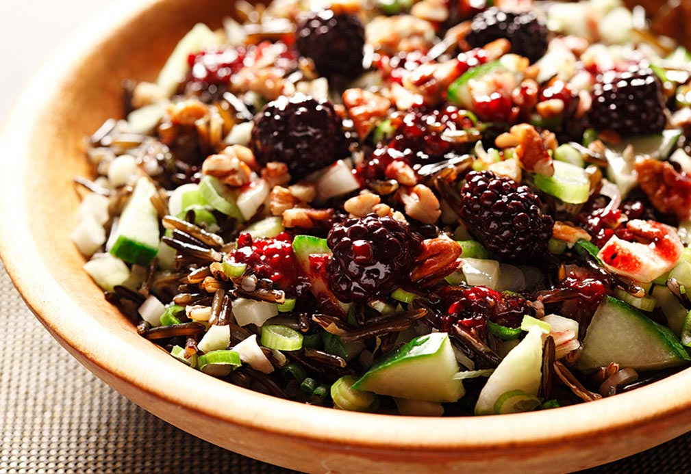 Wild rice salad recipe made with canola oil developed by Patricia Chuey