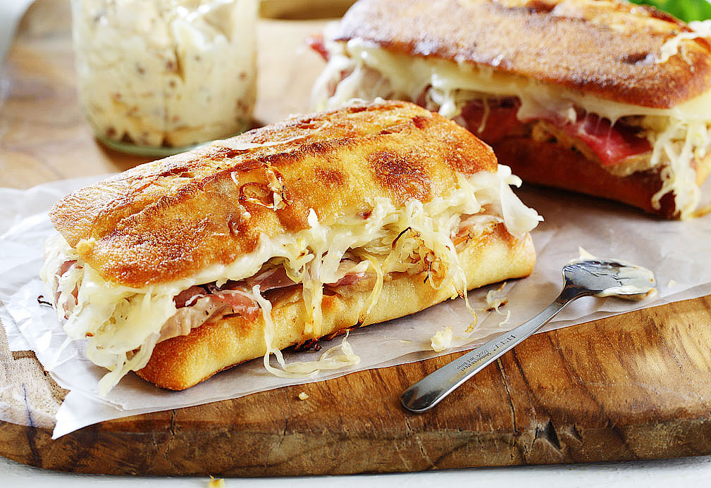 Cuban Inspired Sandwiches with Sun Dried Tomato Canola Mayonnaise