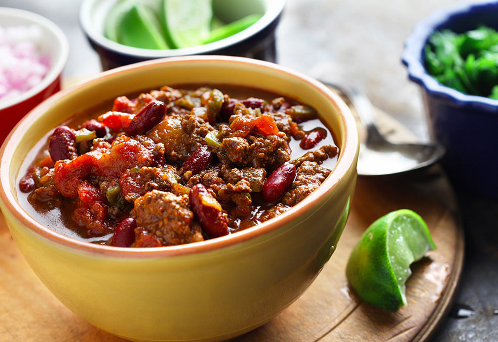 Deep, Dark and Stout Chili recipe made with canola oil by Nancy Hughes