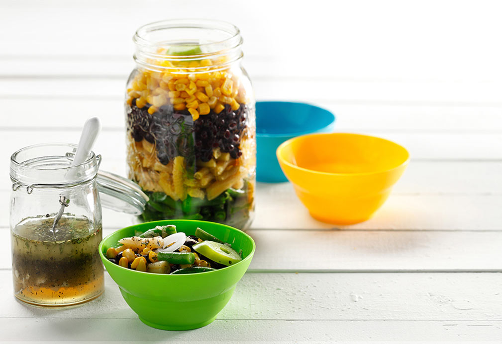 Fast and Fabulous Bean Salad recipe made with canola oil