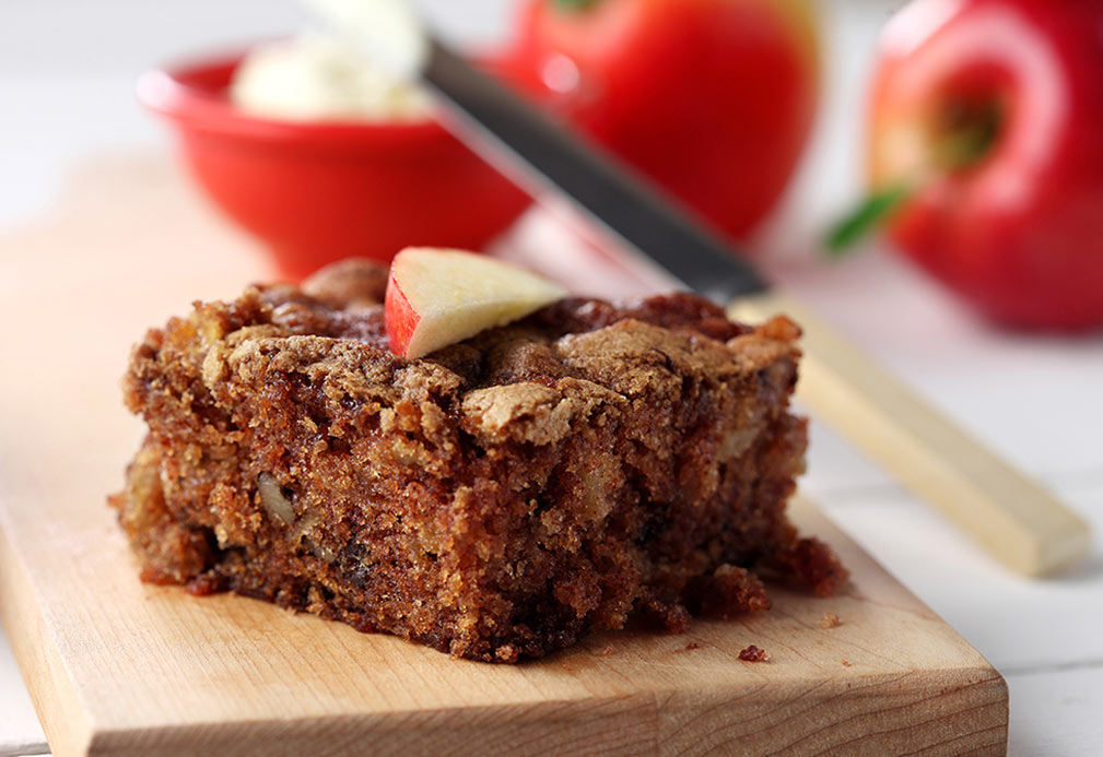 Fresh Apple Cake recipe made with canola oil