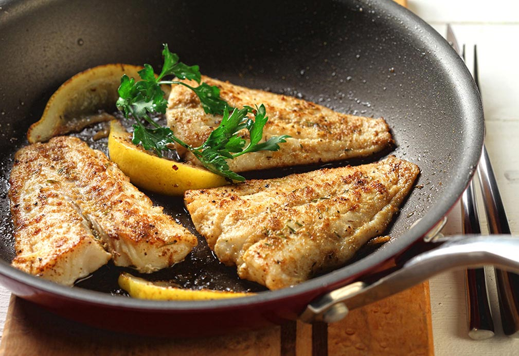 Cumin Crusted Fish recipe made with canola oil