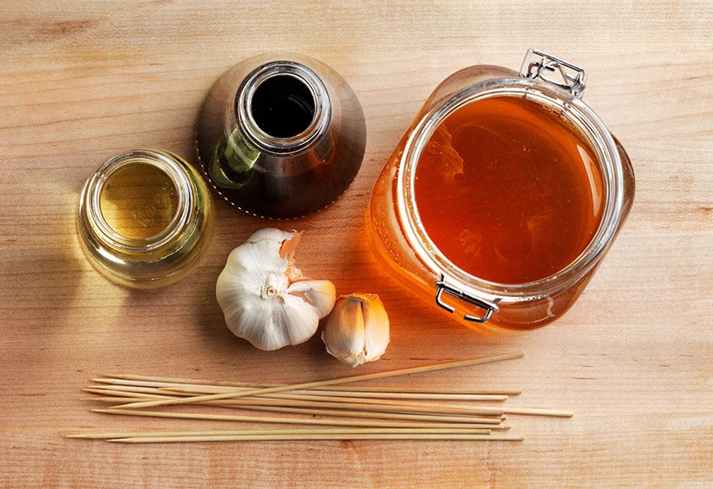 Marinade au miel et à l'ail