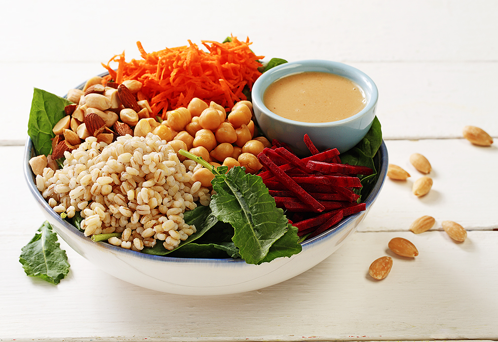Kale, Beet, and Chickpea Power Bowls recipe made with canola oil by Patricia Chuey
