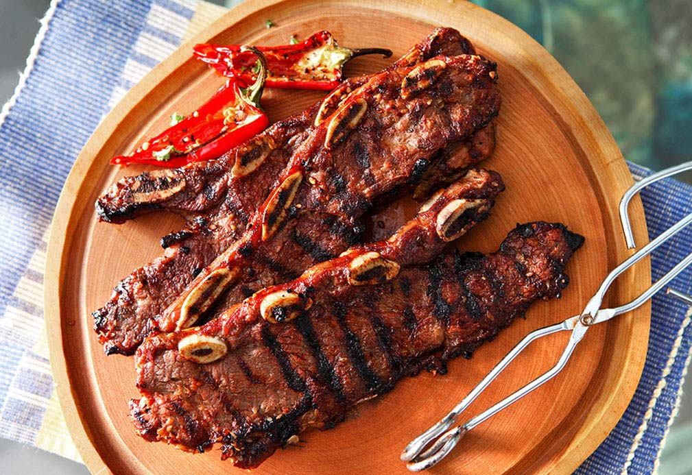 Korean Style Short Ribs recipe made with canola oil by Nathan Fong