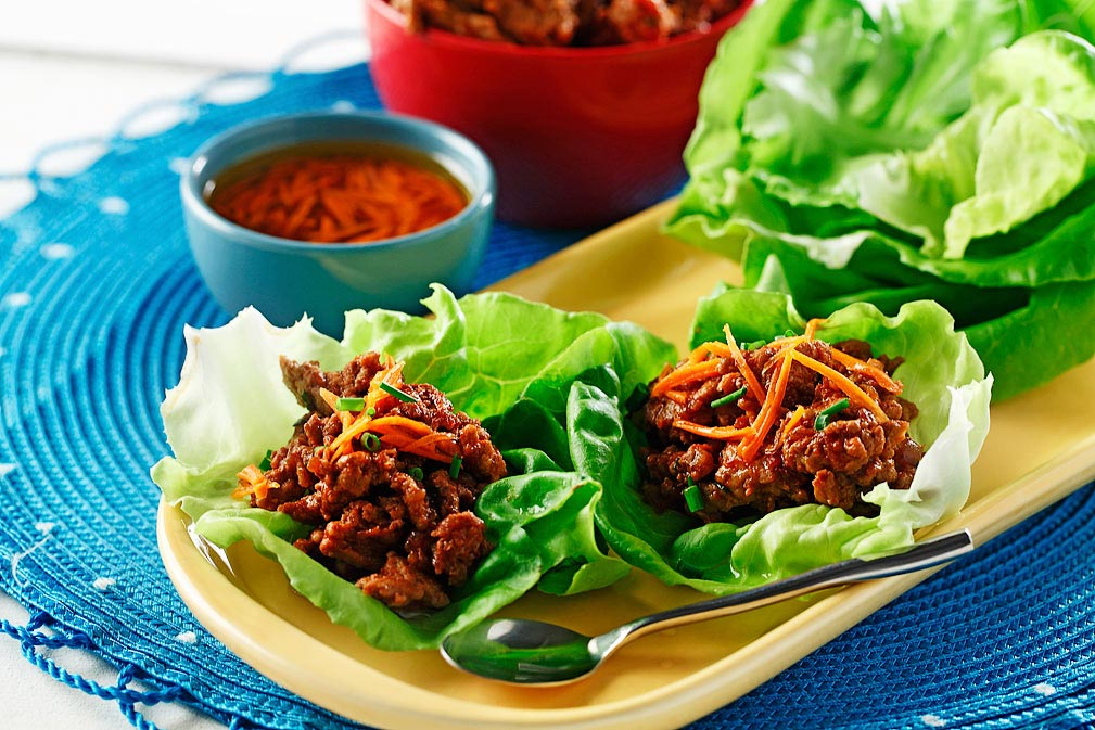 Lettuce Wraps with Agave Chipotle Sauce recipe made with canola oil by Guadalupe García de León