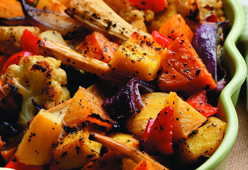 Maple Roasted Vegetables recipe made with canola oil