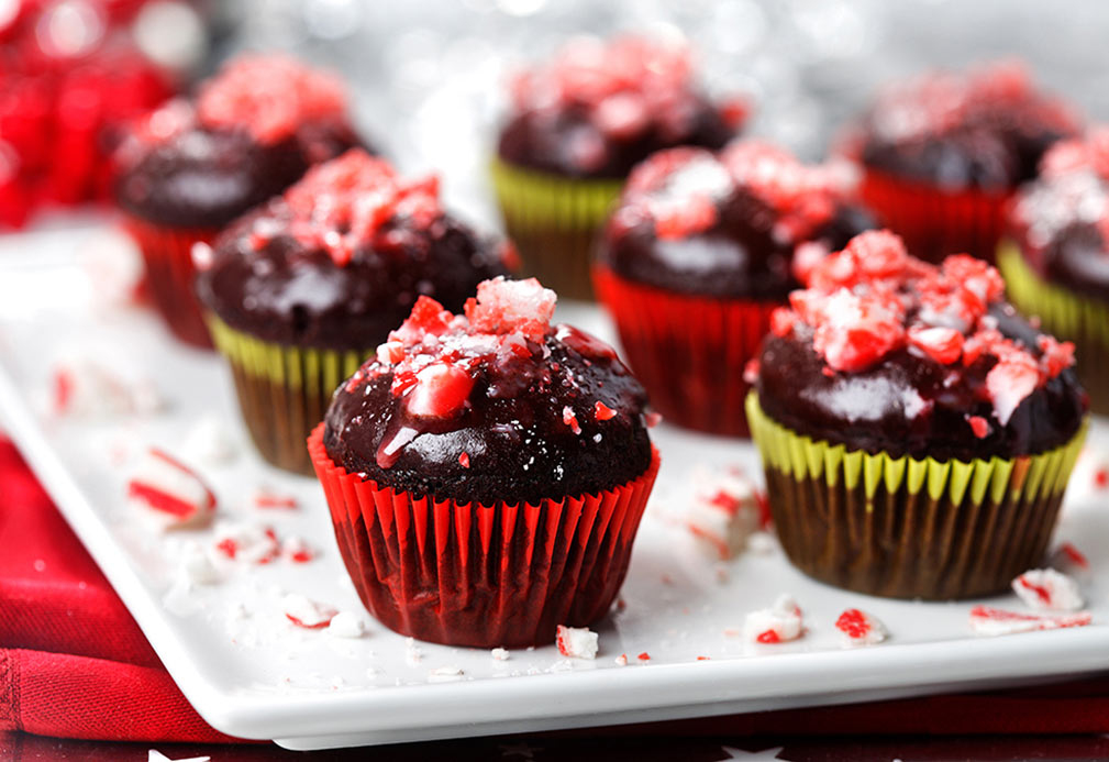 Mini Peppermint Cupcakes recipe made with canola oil