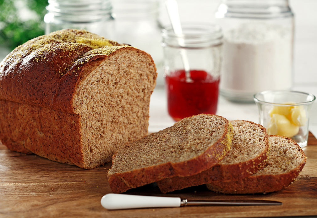 Molasses Flax Bread recipe made with canola oil