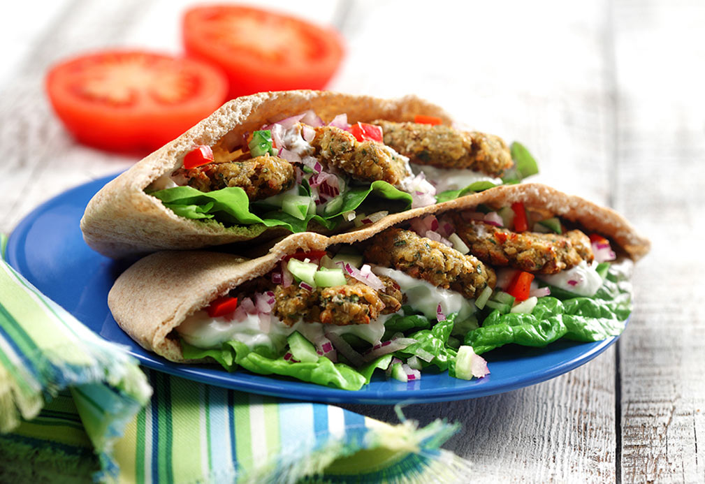Oven Roasted Falafel recipe made with canola oil by Julie Van Rosendaal