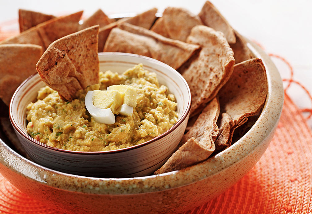 Protein Powered Hummus recipe made with canola oil by Nancy Hughes