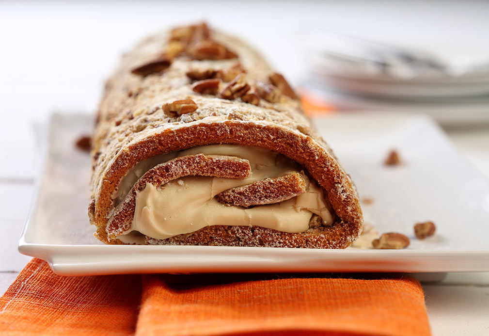 Pumpkin Pecan Cream Cake recipe made with canola oil by George Geary