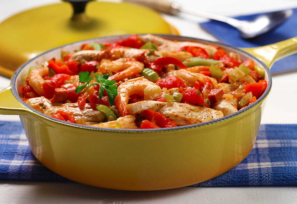 Quick Jambalaya recipe made with canola oil