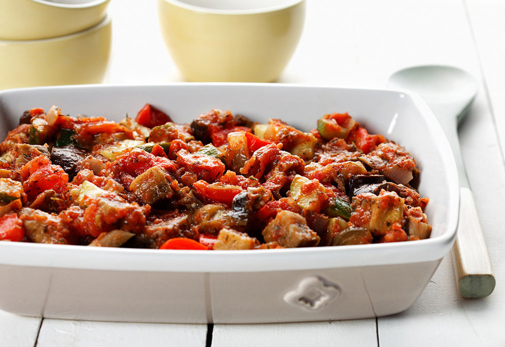 Quick Ratatouille recipe made with canola oil