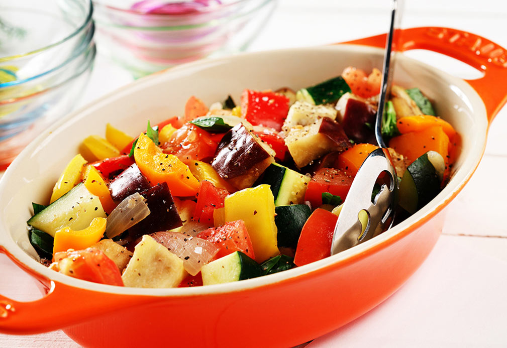 Ratatouille recipe made with canola oil