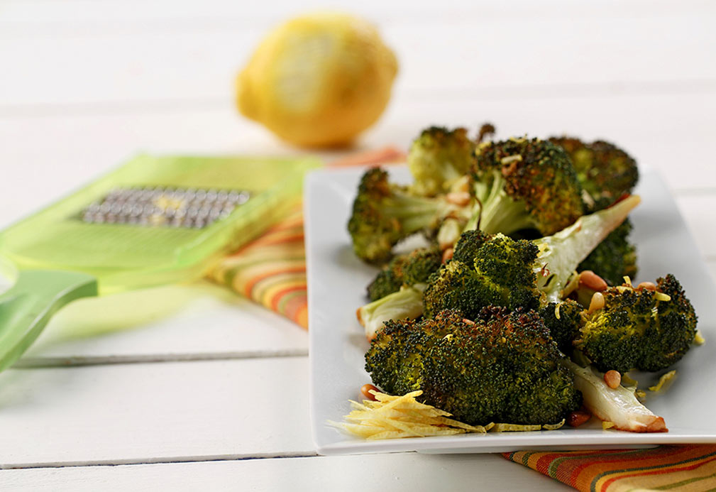 Roasted Broccoli recipe made with canola oil