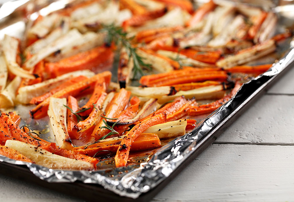 Roasted Carrots and Parsnips recipe made with canola oil