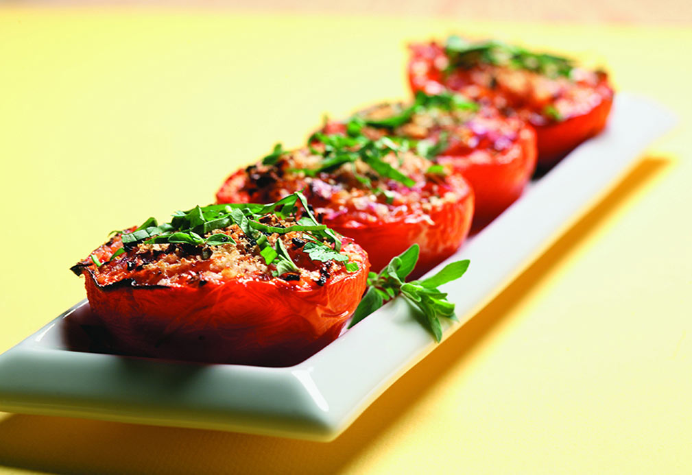 Roasted Tomatoes recipe made with canola oil