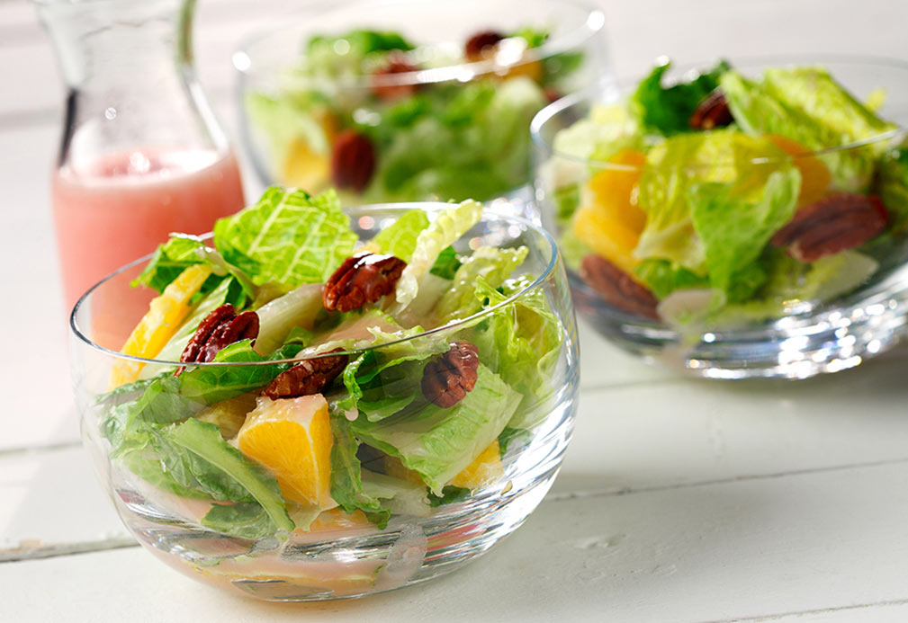 Romaine Pecan Salad recipe made with canola oil