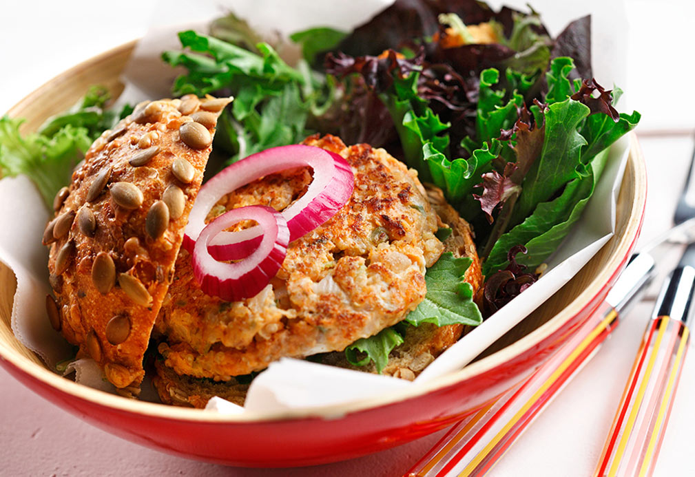 Salmon and Quinoa Patties recipe made with canola oil by Patricia Chuey