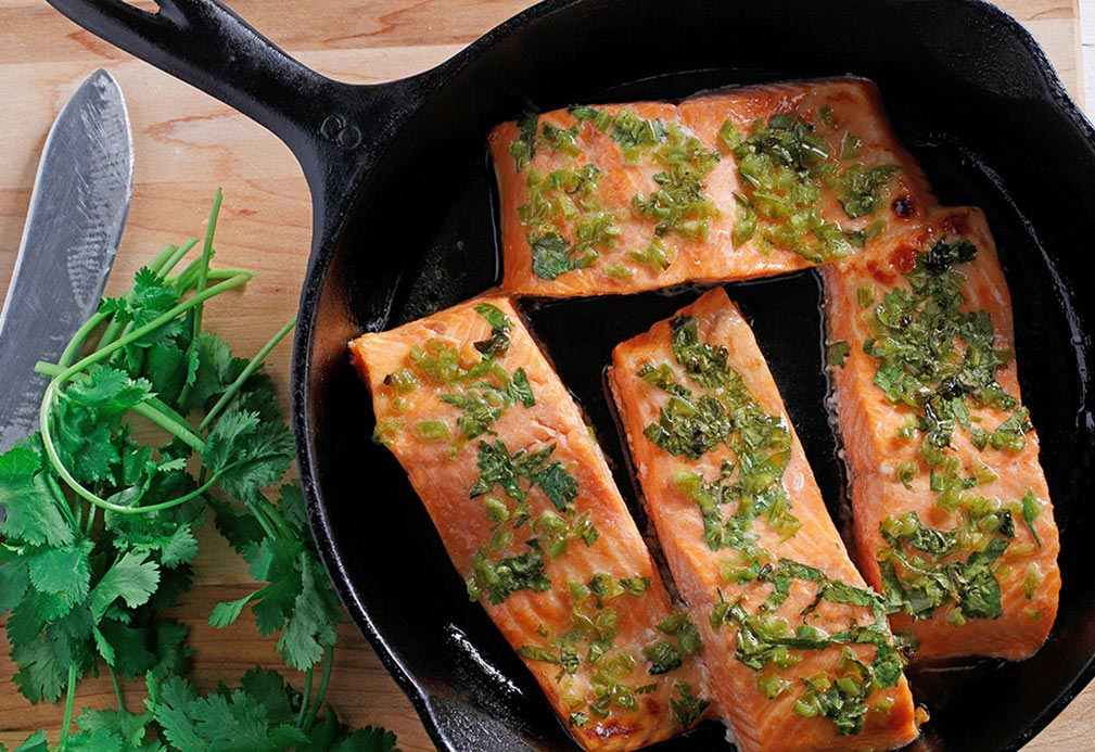 Salmon with Cilantro Crust