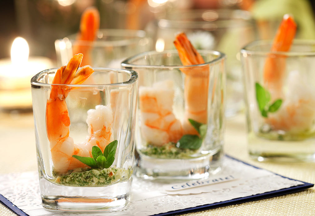 Shrimp Cocktail with Lemon Mint Pesto