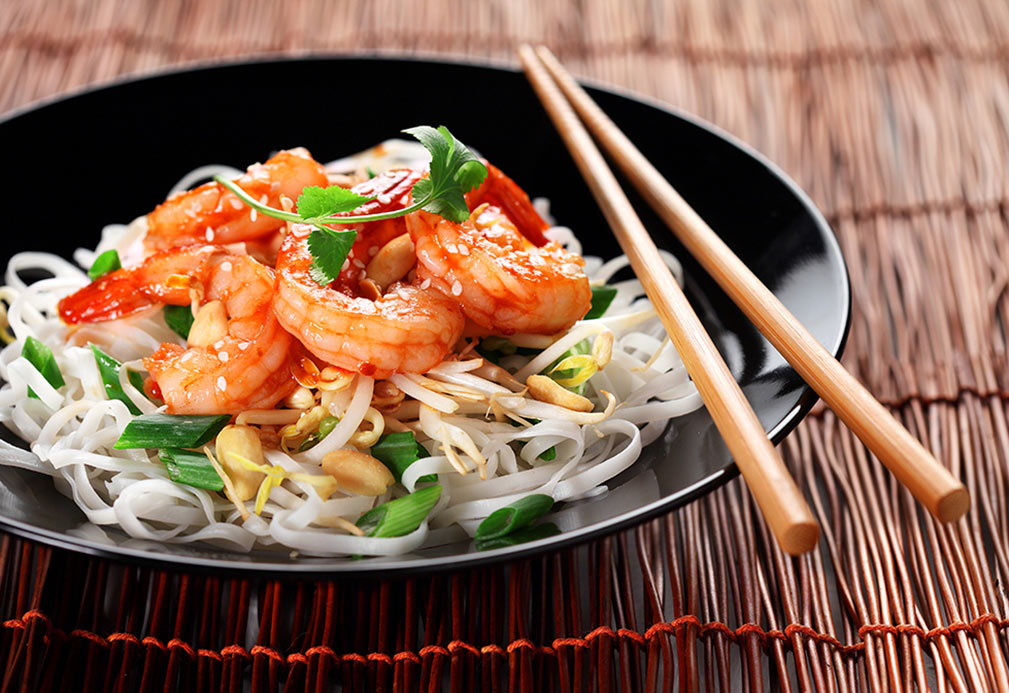 Shrimp Pad Thai recipe made with canola oil