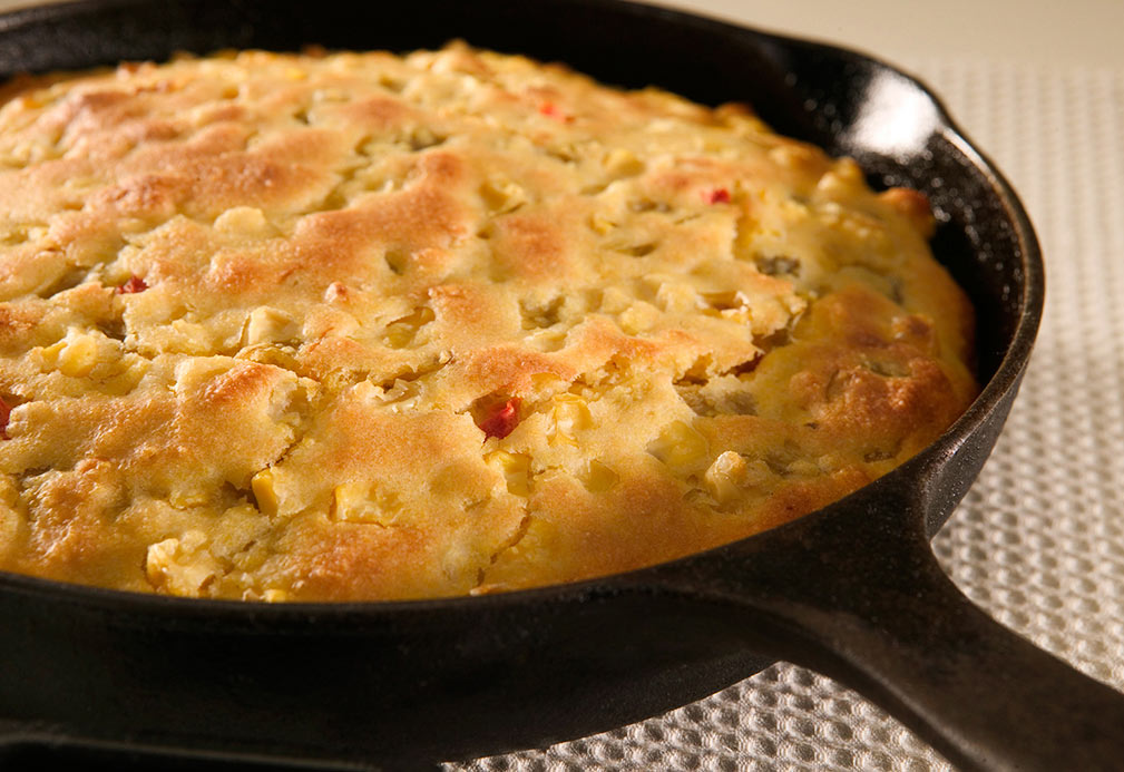 Skillet Cornbread recipe made with canola oil