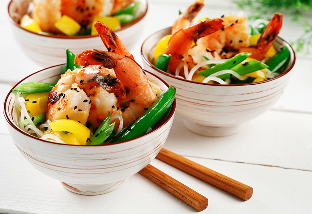 Spicy Ginger Shrimp recipe made with canola oil