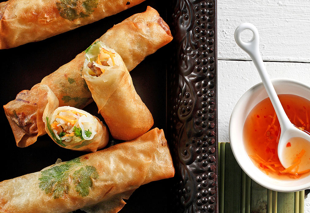 Spring Rolls recipe made with canola oil