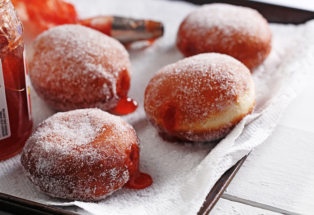 Sufganiyots (Jelly Filled Doughnuts)