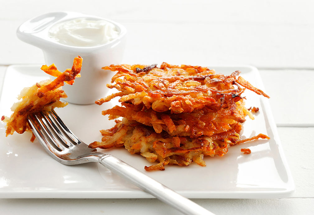 Two Potato Latkes