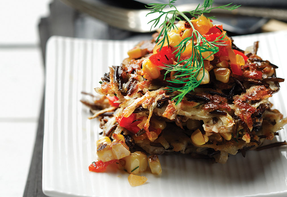 Wild Rice and Potato Pancakes with Corn Salsa