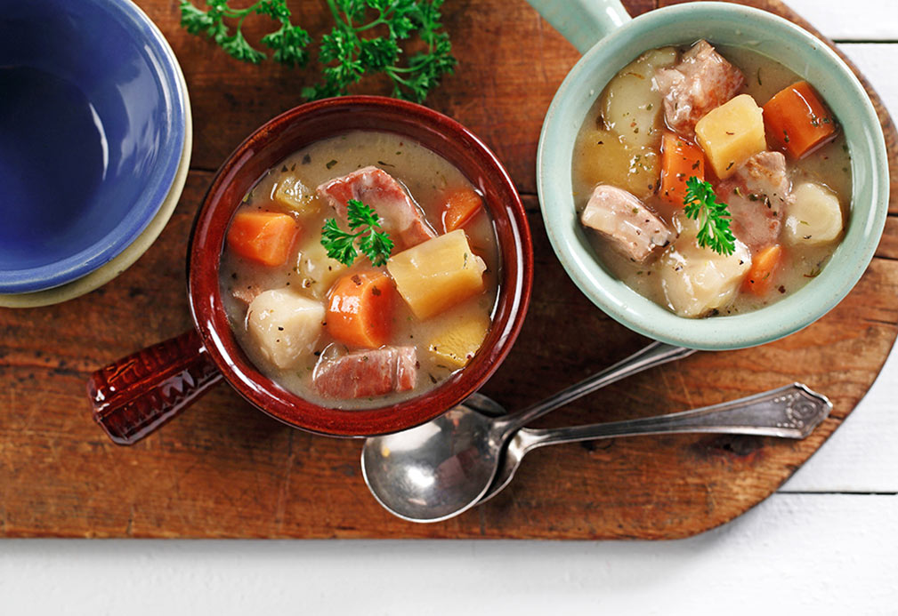 Winter Vegetable Pork Ragout recipe made with canola oil by Patricia Chuey