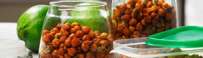 Pois chiches croustillants avec graines de citrouille et lime