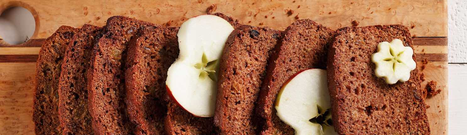 Applesauce Loaf made with canola oil