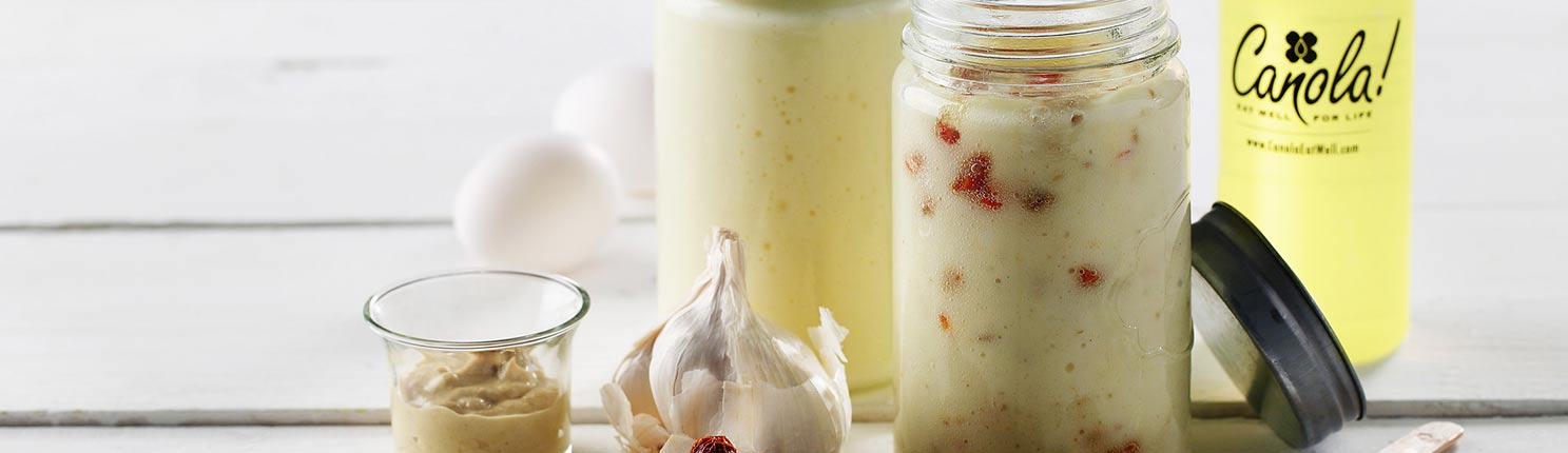 creamy cooked mayonnaise made with Canola Oil