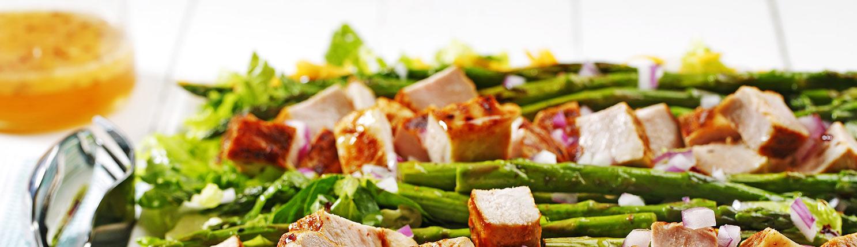 Mesquite Pork Row Salad made with canola oil