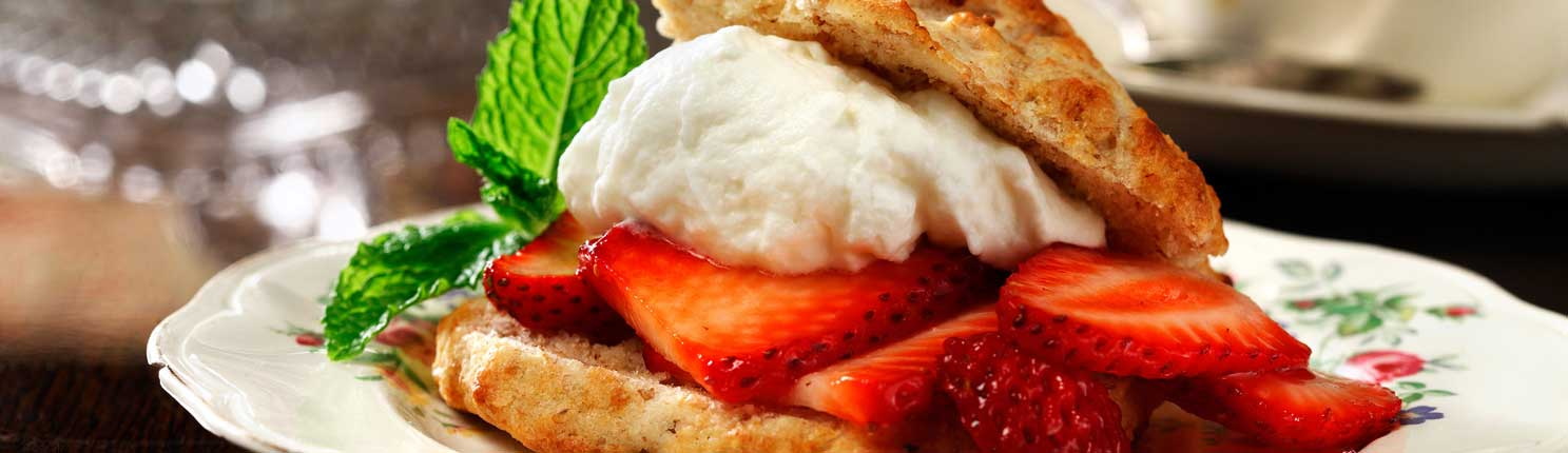 Strawberry Shortcake made with canola oil