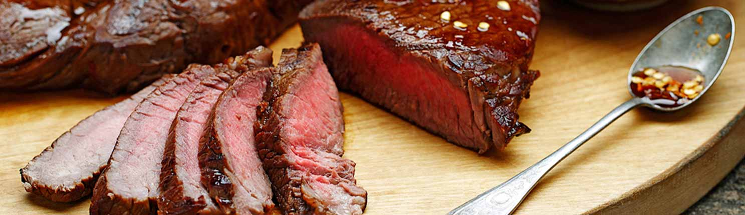 sweet balsamic steak made with canola oil