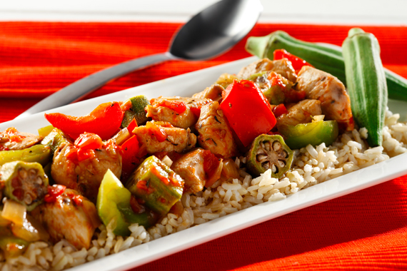 Chicken and Okra Creole recipe made with canola oil by Nancy Hughes