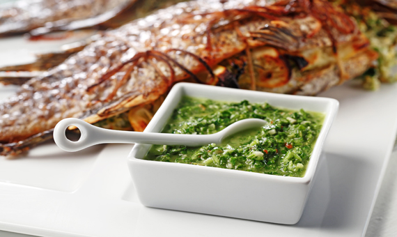 Chimichurri Sauce recipe made with canola oil by Nathan Fong