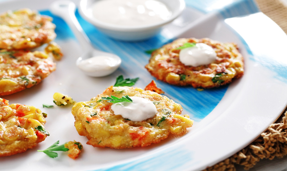 Mini Corn Cakes with Chipotle Aioli recipe made with canola oil in partnership with the American Diabetes Association