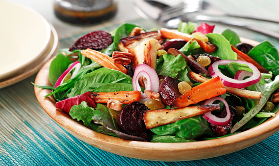 Roasted Beet and Carrot Salad recipe made with canola oil i partnership with the American Diabetes Association