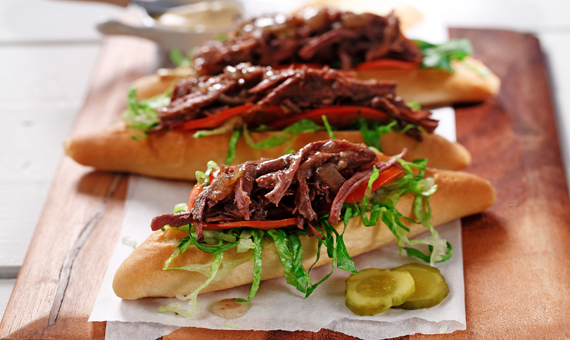 Slow Cooker Po' Boys recipe made with canola oil by Nancy Hughes