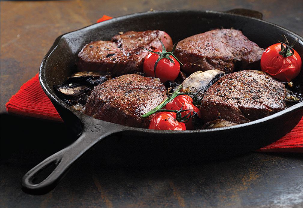 Beef Tenderloin with Balsamic Coffee Sauce recipe made with canola oil by Nancy Hughes