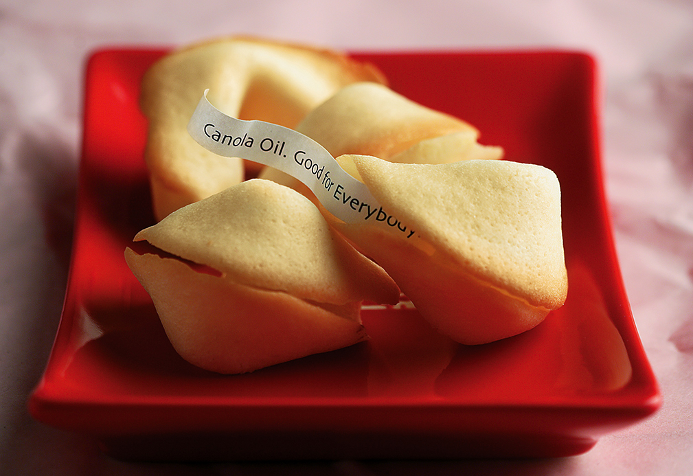 Fortune Cookies recipe made with canola oil