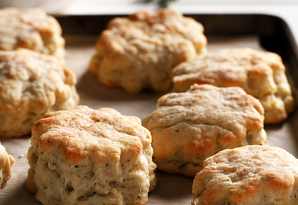 Herb Baking Powder Biscuits recipe made with canola oil