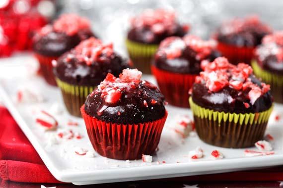Mini cupcakes de menta