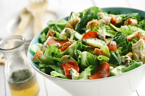 Romaine Tarragon Salad with Blue Cheese Vinaigrette recipe made with canola oil by Nancy Hughes